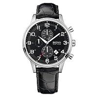 Hugo Boss Boss Black - Reloj analógico de caballero de cuarzo con correa de piel negra de Hugo Boss
