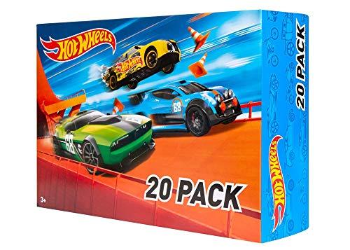 Hot Wheels Coffret 20 véhicules, jouet pour enfant de petites voitures miniatures, modèle aléatoire, DXY59
