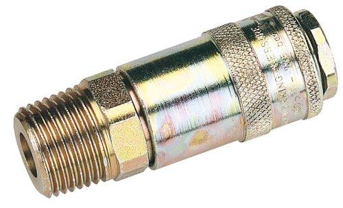 1/5,1 cm filetage mâle PCL COUPLAGE AIR CONIQUE (vendu en vrac) – pour une utilisation avec des adaptateurs standard. BSP. En Parallèle Avec simple action de verrouillage convient parfaitement pour la plupart des applications Air Comprimé. Air maximal 1197L taux/min (42cfm) à 6.9BAR (100 psi) pression maximale de fonctionnement 13.8bar (200psi). Vendu en vrac.