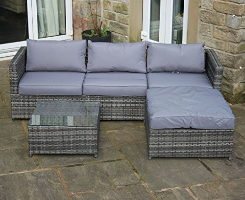 Rattan Outdoor 4 Seat Corner Sofa Patio Garden Furniture ...