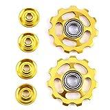 VORCOOL Rad der des die Fahrrad des Fahrrad Schaltwerk des Wandels von der Rad Gold Umlenkrolle 11T 2pcs für Shimano