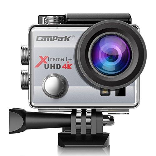 Campark® 4K Wi-Fi Ultra HD Videocamera Sportiva Impermeabile per Riprese in Timelapse, Slow Motion, per Casco e con Funzioni DVR - Angolo di Visione Ampio a 170°