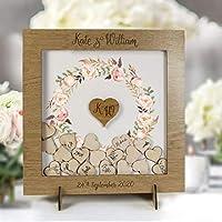 Libro degli ospiti per celebrazione di matrimonio personalizzato legno cornice decorazioni matrimonio vintage nascita