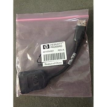 Original HP Bizlink 20 cm DisplayPort Adapter Kabel auf