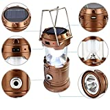 #5: CPEX solar emergency light lantern + USB mobile charging point +rechargeable night light Travel camping lantern