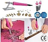 Applikator zum Auftragen von Dekorationselementen, Nieten, Steinen, Glitzersteinen, zum Verzieren von Kleidung, Taschen, 6W CFH