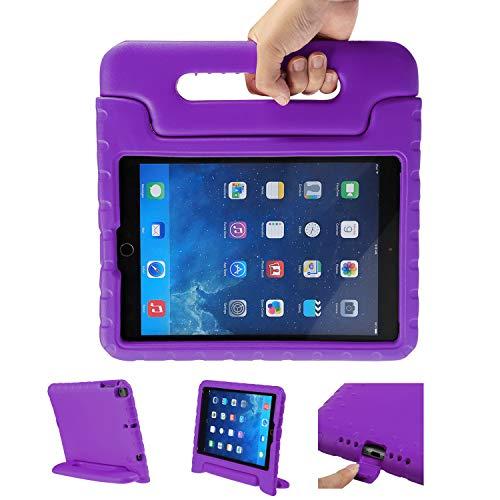 LEADSTAR Kinder Schutzhülle für iPad 9.7 2017 2018, Kinderfreundlich Kinder Schutz Hülle EVA Case Leichte Stoßfeste Schutzhülle Tasche für Apple iPad Air / iPad Air2 / iPad 9.7 2017 2018 (Lila)