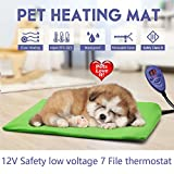 shengmi Pet Hitze Pad wärmer, elektrischen Katze Hund Puppy Heizung Bett Matte 7Grade Temperatur Kontrolle mit Plüschbezügen Thermo-Schutz