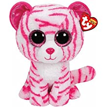 Ty - Beanie Boos Asia, Tigre, 40 cm, Color Blanco / Rosa (