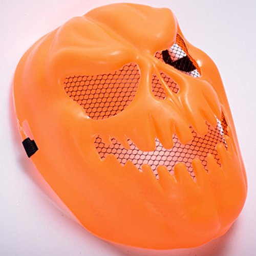 SilenceID Scary Pumpkin Mask Neuheit Kürbiskopf Halloween