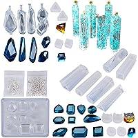 ☆26formas Molde Silicona Resina Joyería Joya Collar Molduras Fabricación de DIY Colgante Collar Pendiente Creativo