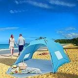 Homfu Tenda Casetta per Bambini e Bambine per Campeggio Esterno Tenda Giocattolo per Bambini con (Beach Blue) ...
