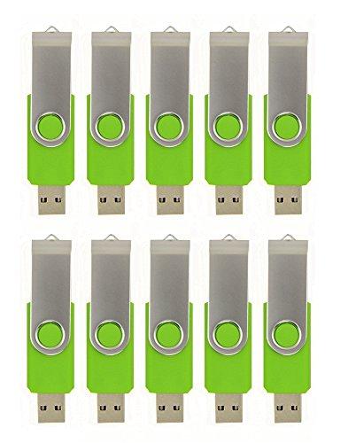 FEBNISCTE 128MB Flash Drive Bulk Pack of 10 Thumb Drives Value Small Capacity 128MB USB 2.0 Memory Stick Swivel Pendrive…