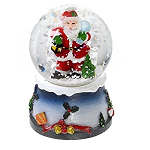 Boule neige lumineuse avec paillettes d coration de for Decoration de noel amazon