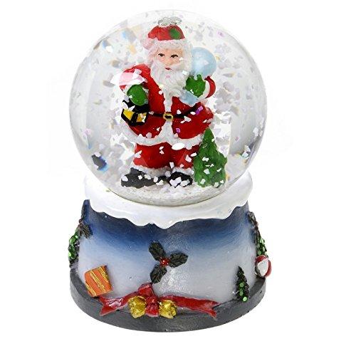 Boule à neige lumineuse avec paillettes - Décoration de Noël
