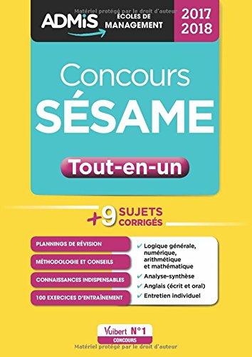 Concours SÉSAME - Tout-en-un - Concours 2017-2018 Collection : ADMIS Écoles de management