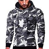 LANSKIRT Sweatshirt Männer Langarm Camouflage Hoodie Kapuzen Top Tee  Outwear Bluse 2578d2e646