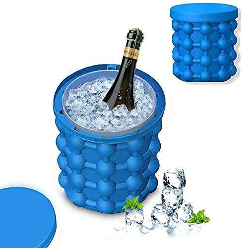 HappenWell Silicone Ice Cube Maker | The Innovation Space Saving Ice Cube Maker | Flexible Ice Mold for Whiskey, Wine, Beer |Space Saving Ice-Ball Makers for Home, Party and Picnic
