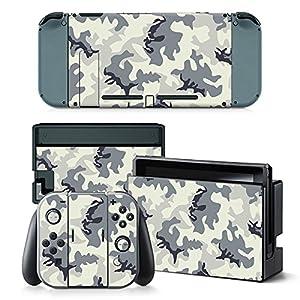 Nintendo Switch Skin Design Foils Aufkleber Schutzfolie Set – Camouflage 2 Motiv