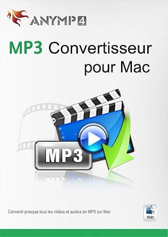 AnyMP4 MP3 Convertisseur pour Mac 1 Year License - est le meilleur logiciel pour convertir presque tous les formats vidéo et audio en MP3/AAC/AIFF/ALAC/WAV/M4A sur Mac [Téléchargement]