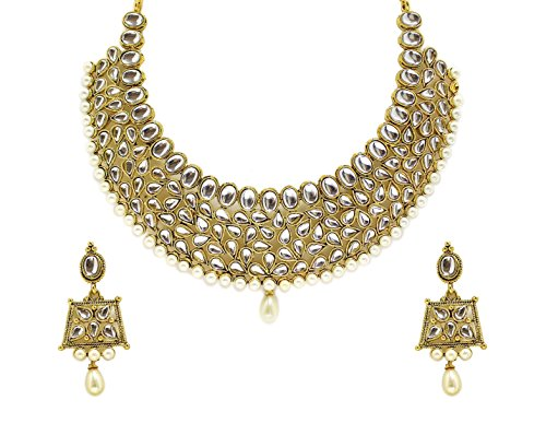 Zaveri Pearls Kundan Necklace Set For Women - ZPFK4296