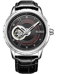 Burei Herren Armbanduhr kratzfestes Saphirglas Objektiv Automatische Armbanduhr für Herren