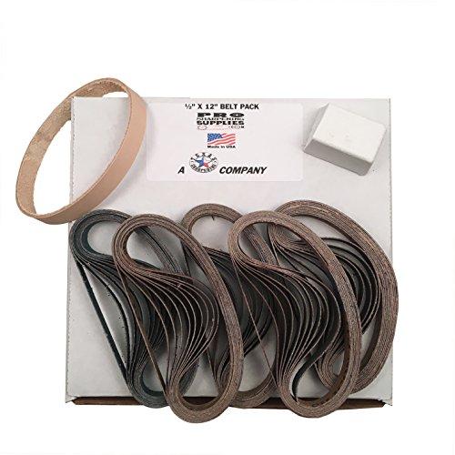 600 Leder (1/5,1x 30,5cm (13mm x 305mm) Work Sharp Gürtel pack-120, 400, 600, 800, 1000und Leder Gürtel w Compound)