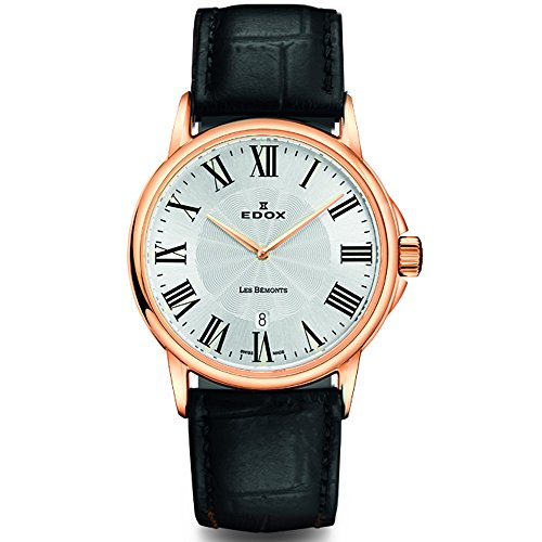Edox Women's Les Bemonts 28mm Leather Band Swiss Quartz Watch 57001 37R AR