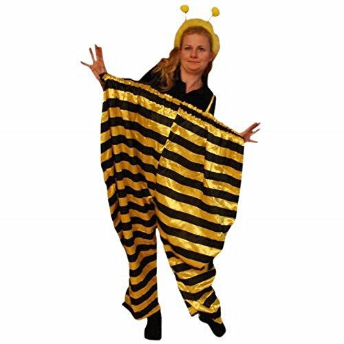 Bienen-Kostüm als XL Hose, TO75 Gr. L - XL, Bienen-Kostüme Biene Hummel Kostüme Bienen-Faschingskostüm, Fasching Karneval, Faschings-Kostüme, Fasnachts-Kostüme Tier-Kostüm, Erwachsene (Süße Tier Kostüm Frauen)