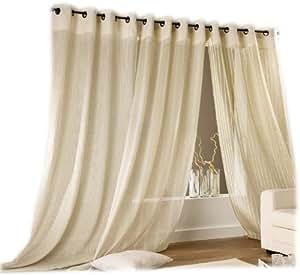 linder les c lins 0160 29 385fr senschal mit verst rktem rand 140 x 260 cm beige. Black Bedroom Furniture Sets. Home Design Ideas
