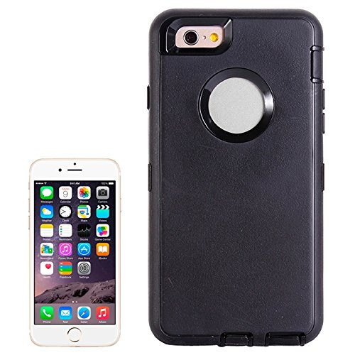 Wkae Case Cover Bunte Plastik + TPU Kombination Hülle für das iPhone 6 ( : Black ) Black
