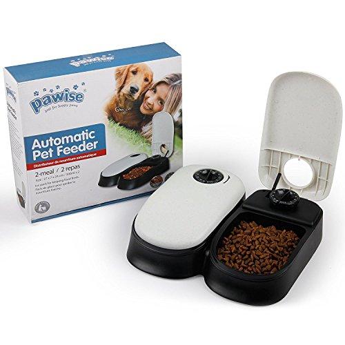 Pawise Automatische Pet Feeder 2-Meal Food Spender programmierbarem Fressnapf für Hunde Katzen -