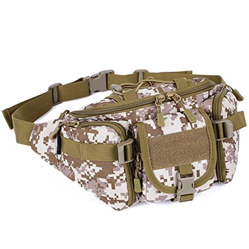 Zenness-Protector Sistema Molle Plus paquete de la cintura del bolso del pecho Profesional Viajes Deportes Equipos (Desert Digital)