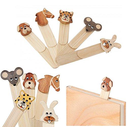 Un segnalibro di legno, animale - Bookmarking - Animale casuale: cane, cavallo, tigre, gatto, mouse, coniglio