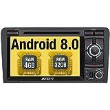 Pumpkin Android 8.0 Autoradio DVD Player für Audi A3 mit Navi Unterstützt Bluetooth DAB + WLAN 4G Android Auto USB CD MicroSD Aux 2 Din 7 Zoll Bildschirm