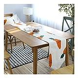 JUNYZZQ Amerikanischen Land Tischfahne Karotte Pastoralen Frisches Obst Tuch Tischfahne Kaffee Tischdecke Tv Schrank Flagge, 32X180 cm