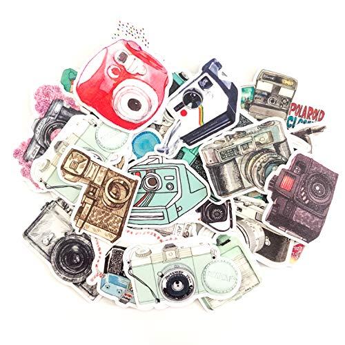 Navy Peony Kamera Aufkleber Pack und Reiseaufkleber   wasserfeste Aufkleber für einen Vintage Koffer   Aufkleber für Telefon sowie Laptop Sticker   Coole Sticker für Einklebebuch und Notizbuch