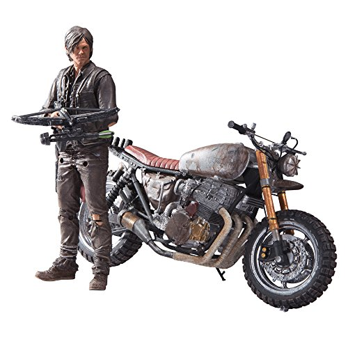 The Walking Dead Actionfigur Daryl Dixon mit Motorrad (Walking Dead Deluxe)