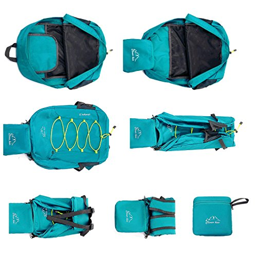 Wandern Leichtgewicht Rucksack multifunktional Outdoor faltbare Erholung wasserdicht Packung Dating Shopping Travel Tasche Rucksack Skin Tasche 4 Farbe H46 x W31 x T12 CM Green