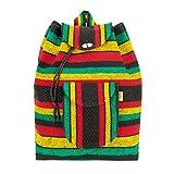 PINZON ESCOLAR Grand sac à dos hippie Aztèque sac de plage coloré tressé en toile et tissu fait au Mexique