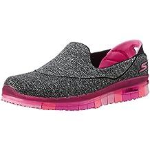 SKECHERS EZ Flex 3.0 Duchess Damen Sneaker Slipper schwarz, Größe:38, Farbe:Schwarz