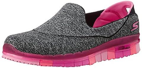 Skechers Damen GO Flex Sneakers, Schwarz (BKHP), Gr.41 EU