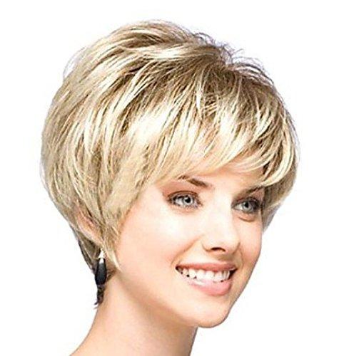 Européen et américain Femme Cheveux Fluffy Perruques haute température Fil Court Cheveux Bouclés perruque