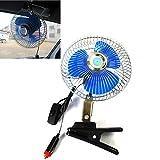12V 20,3cm de voiture Mini ventilateur électrique Fort Vent Auto Fan Car Air Conditioner faible bruit Portable Auto Air ventilateur de refroidissement