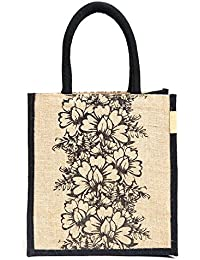 "H&B Jute Handbag ""Team Work"" Designed / Quality Lunch Bag / Gift Bag / Jute Stylish Lunch Bag / Combo Offers Of... - B0792TDXH2"