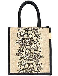 "H&B Beautiful, Trendy & Stylish Jute Handbag ""Team Work"" Designed / Quality Lunch Bag / Gift Bag / Jute Stylish..."