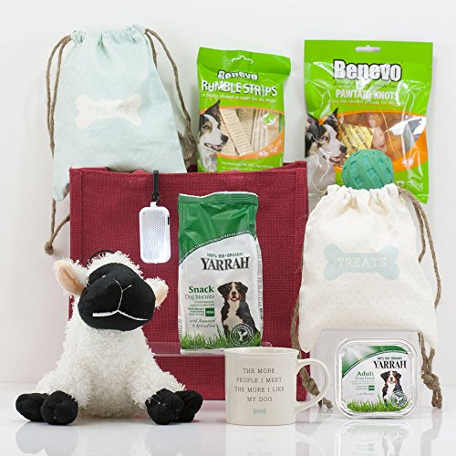 Natures Hampers Dog & Owners Treats Gift Bag - Dog Hamper - Dog Gift Set - Dog Gifts Basket - Healthy Dog Snacks - Birthday for Dog - Christmas Dog Treat - Xmas Dog Present