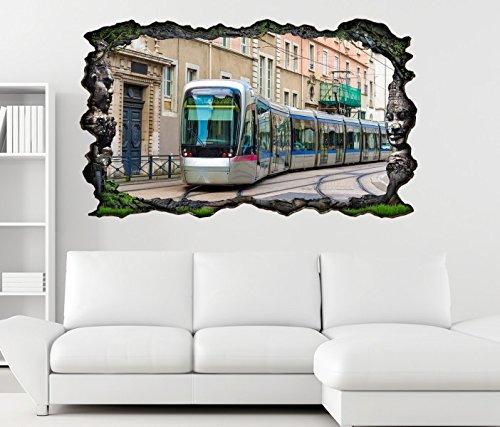 3d-wandtattoo-strassenbahn-u-bahn-zug-metro-eisenbahn-selbstklebend-wandbild-tattoo-wohnzimmer-wand-