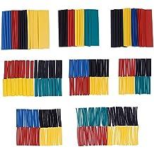 Zacro 328 Pcs Tubos Retráctiles de Poliolefina Alambre Envuelto (Varios Colores: Amarillo / Verde / Azul / Negro / Rojo)