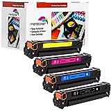 Merotoner Toner Drucker Patronen 4er Pack Kompatibel zu HP Color LaserJet 125A CB540A - CB543A CM-1312 MFP CM-1312 NFI MFP CP-1210 CP-1213 CP-1214 CP-1214 N CP-1215 CP-1216